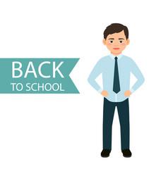 Back to school little boy vector