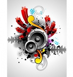 Musical theme vector
