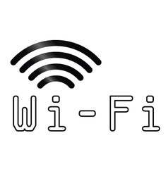 WiFi text symbol vector image