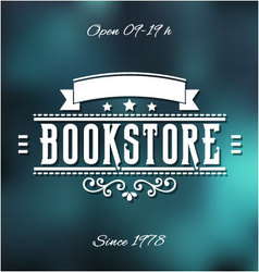 Bookstore label vector