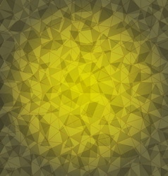 Design yellow triangle crack background vector