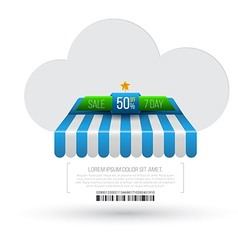 Cloud with awning vector