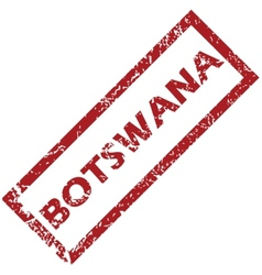 New botswana rubber stamp vector