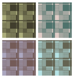 Seamless tartan pattern set vector