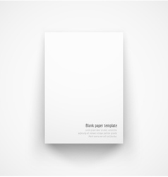 White paper template mock-up with drop shadow vector