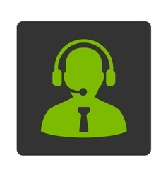Reception operator icon vector