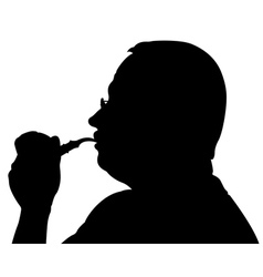 man with pipe vector image