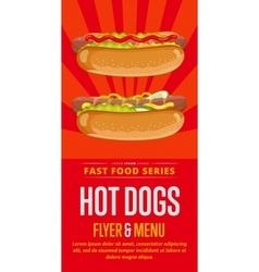 Hot dog sale flyer vector image