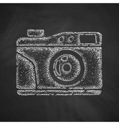 Old photocamera icon vector