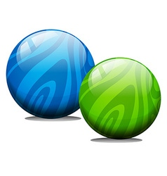 Two ball with marble texture vector