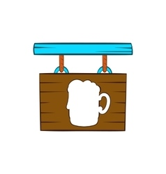 Street signboard of pub icon cartoon style vector