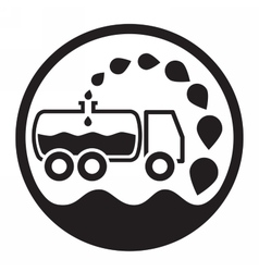 car vacuum sewage treatment and sewage vector image