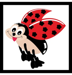 Cute ladybird vector