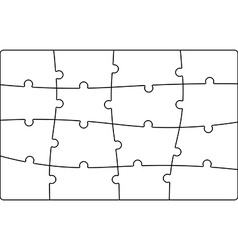 Puzzle jigsaw template vector
