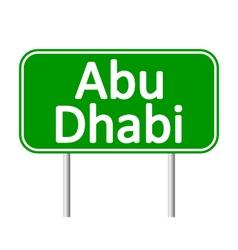 Abu dhabi road sign vector