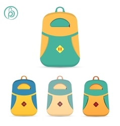 backpack set vector image vector image