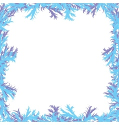 Christmas background Frosty patterns Frame with vector image vector image