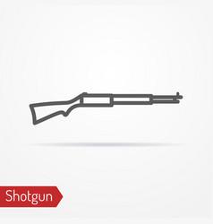 Classic hunter rifle silhouette icon vector
