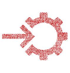 Cog integration fabric textured icon vector