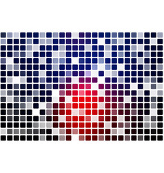 Deep blue and red occasional opacity mosaic over vector
