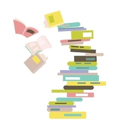 Falling stack of books vector image