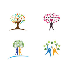 family tree logo design template vector image vector image