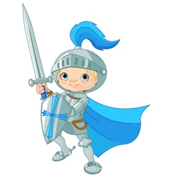 Fighting Brave Knight vector image