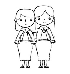 Figure teacher with student to class education vector