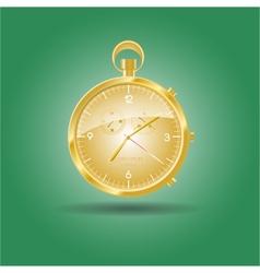 Golden watch vector image vector image