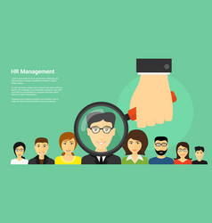 human resource management vector image vector image