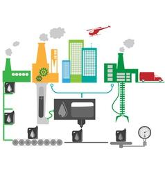 Industrial factory vector image vector image