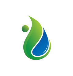 Leaf water eco nature logo image vector