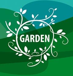 Logo floral pattern garden vector