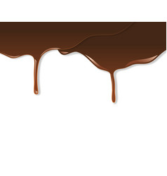 Melted chocolate dripping vector image