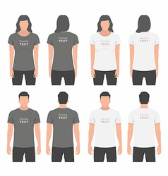 Men and Women t-shirt design template vector image vector image