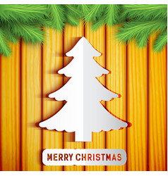 Merry christmas decorative template vector