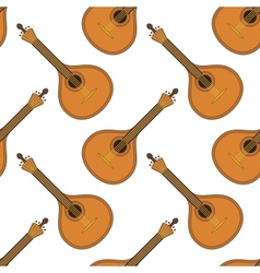 Musical instrument mandolin seamless vector image