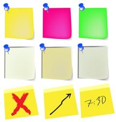 note paper set vector image