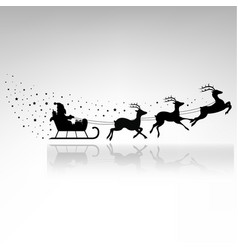 santa claus driving in a sledge vector image vector image