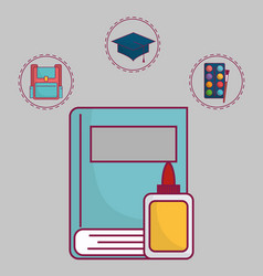 School related icons vector