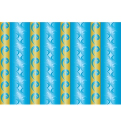 Seamless blue and yellow texture with vertical lin vector