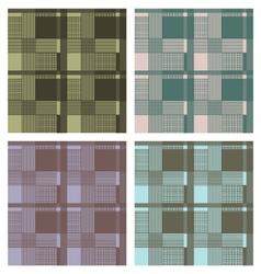 Seamless tartan pattern set vector