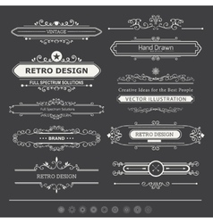 Set of Vintage Decorations Elements vector image vector image