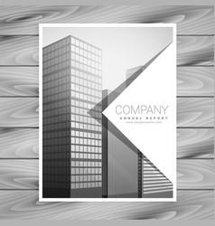 Simple business brochure template design vector