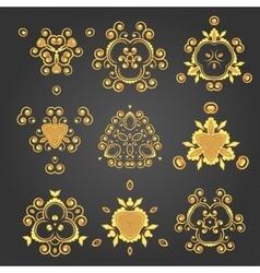 Swirl pattern set vector