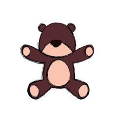 Teddy bear cartoon infantile faceless vector