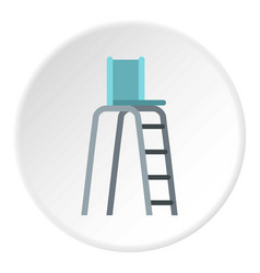 Tennis tower for judges icon circle vector