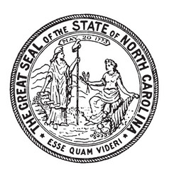 The great seal of the state of north carolina vector