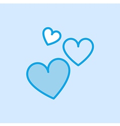 Love Valentine Heart Shape Icon Simple Blue vector image