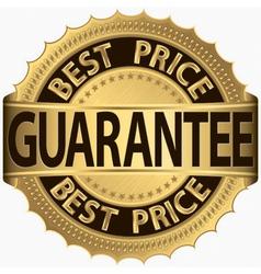 Best price guarantee golden label vector image